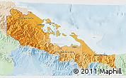 Political Shades 3D Map of Bocas del Toro, lighten