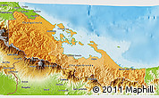 Political Shades 3D Map of Bocas del Toro, physical outside