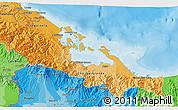 Political Shades 3D Map of Bocas del Toro