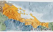 Political Shades 3D Map of Bocas del Toro, semi-desaturated