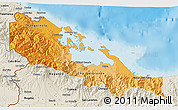 Political Shades 3D Map of Bocas del Toro, shaded relief outside
