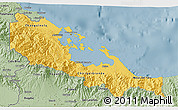 Savanna Style 3D Map of Bocas del Toro