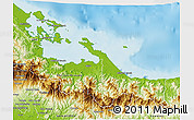Physical 3D Map of Bocas del Toro