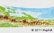Physical Panoramic Map of Bocas del Toro
