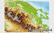 Physical 3D Map of Changuinola