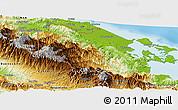 Physical Panoramic Map of Changuinola