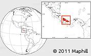 Blank Location Map of Bocas del Toro