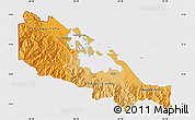 Political Shades Map of Bocas del Toro, cropped outside