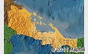 Political Shades Map of Bocas del Toro, darken