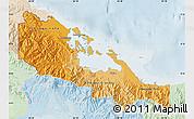 Political Shades Map of Bocas del Toro, lighten