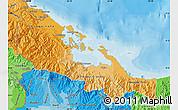 Political Shades Map of Bocas del Toro