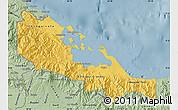 Savanna Style Map of Bocas del Toro