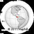 Outline Map of Bocas Del Toro