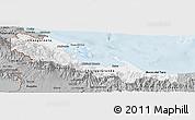 Gray Panoramic Map of Bocas del Toro