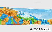 Political Panoramic Map of Bocas del Toro