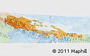Political Shades Panoramic Map of Bocas del Toro, lighten