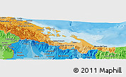 Political Shades Panoramic Map of Bocas del Toro