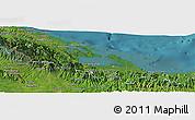 Satellite Panoramic Map of Bocas del Toro