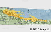 Savanna Style Panoramic Map of Bocas del Toro