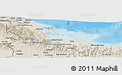 Shaded Relief Panoramic Map of Bocas del Toro