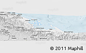 Silver Style Panoramic Map of Bocas del Toro