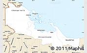 Classic Style Simple Map of Bocas del Toro