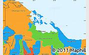 Political Simple Map of Bocas del Toro