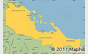 Savanna Style Simple Map of Bocas del Toro