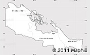 Silver Style Simple Map of Bocas del Toro, cropped outside
