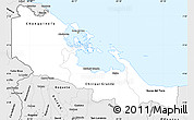 Silver Style Simple Map of Bocas del Toro