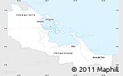 Silver Style Simple Map of Bocas del Toro, single color outside