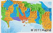 Political 3D Map of Chiriqui