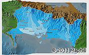 Political Shades 3D Map of Chiriqui, darken