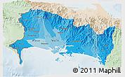 Political Shades 3D Map of Chiriqui, lighten