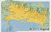 Savanna Style 3D Map of Chiriqui