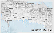 Silver Style 3D Map of Chiriqui