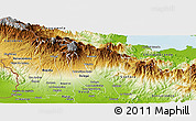 Physical Panoramic Map of Boquete