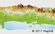 Physical Panoramic Map of David