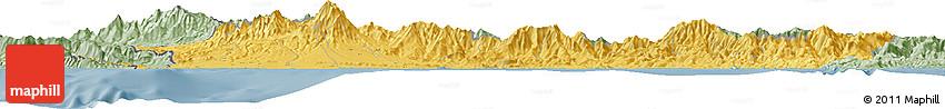Savanna Style Horizon Map of Chiriqui