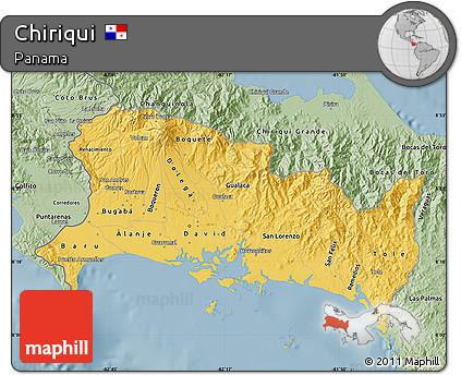 Savanna Style Map of Chiriqui