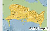 Savanna Style Map of Chiriqui, single color outside