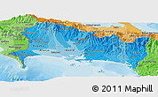 Political Shades Panoramic Map of Chiriqui