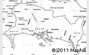 Blank Simple Map of Chiriqui