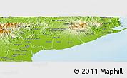 Physical Panoramic Map of Anton
