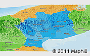 Political Shades Panoramic Map of Cocle
