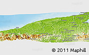 Physical Panoramic Map of Donoso