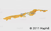 Political Shades Panoramic Map of Colon, cropped outside
