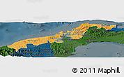 Political Shades Panoramic Map of Colon, darken