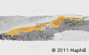 Political Shades Panoramic Map of Colon, desaturated