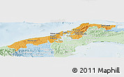 Political Shades Panoramic Map of Colon, lighten